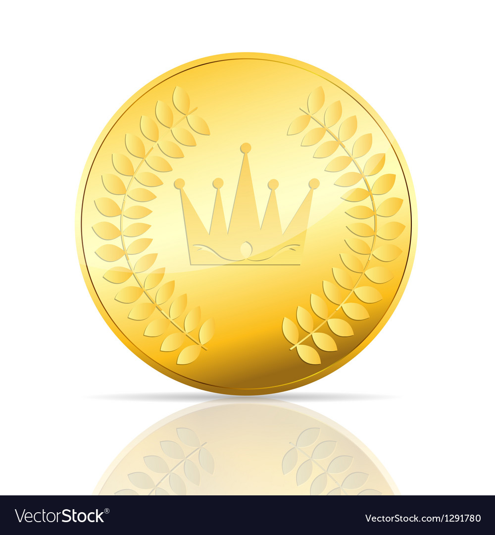 Gold coin on white vector | Price: 1 Credit (USD $1)
