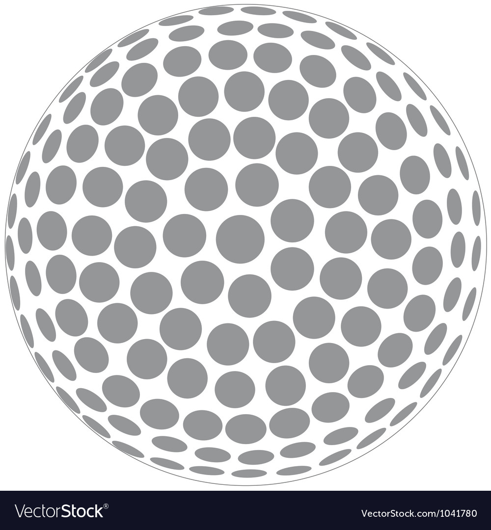 Golfball vector | Price: 1 Credit (USD $1)