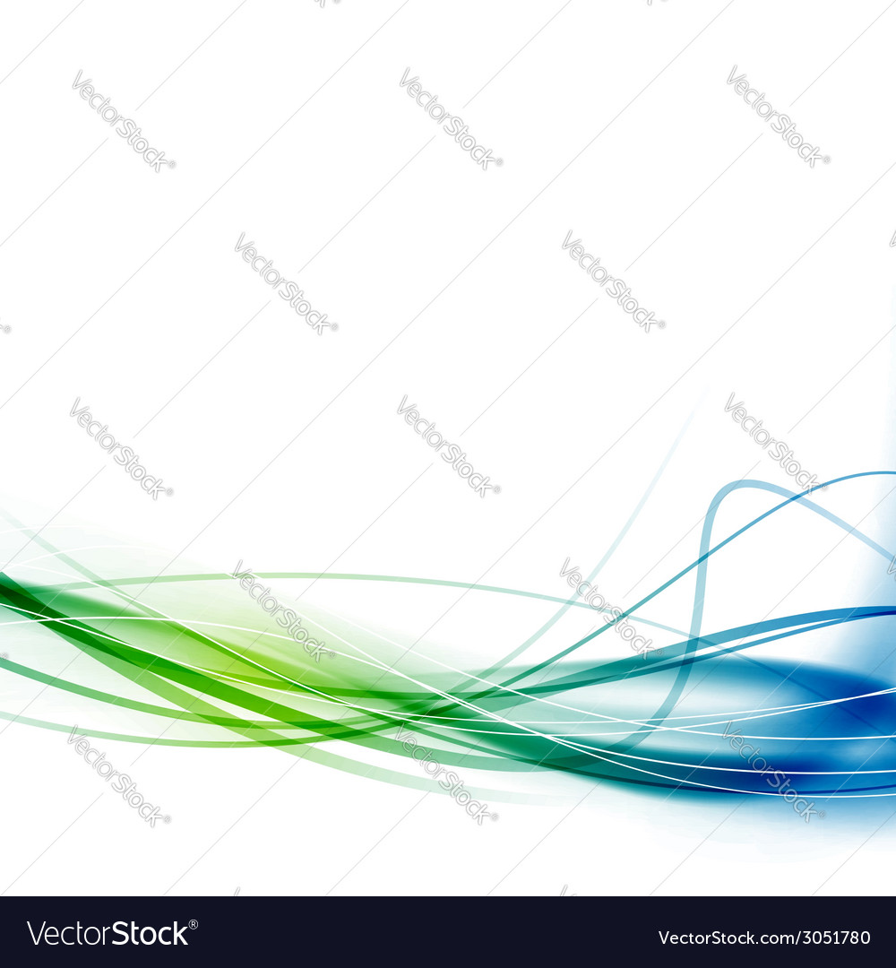 Green blue swoosh abstract lines background vector | Price: 1 Credit (USD $1)