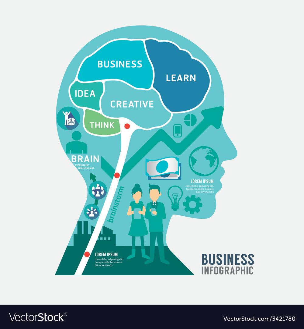 Infographics brain design business diagram templat vector | Price: 1 Credit (USD $1)