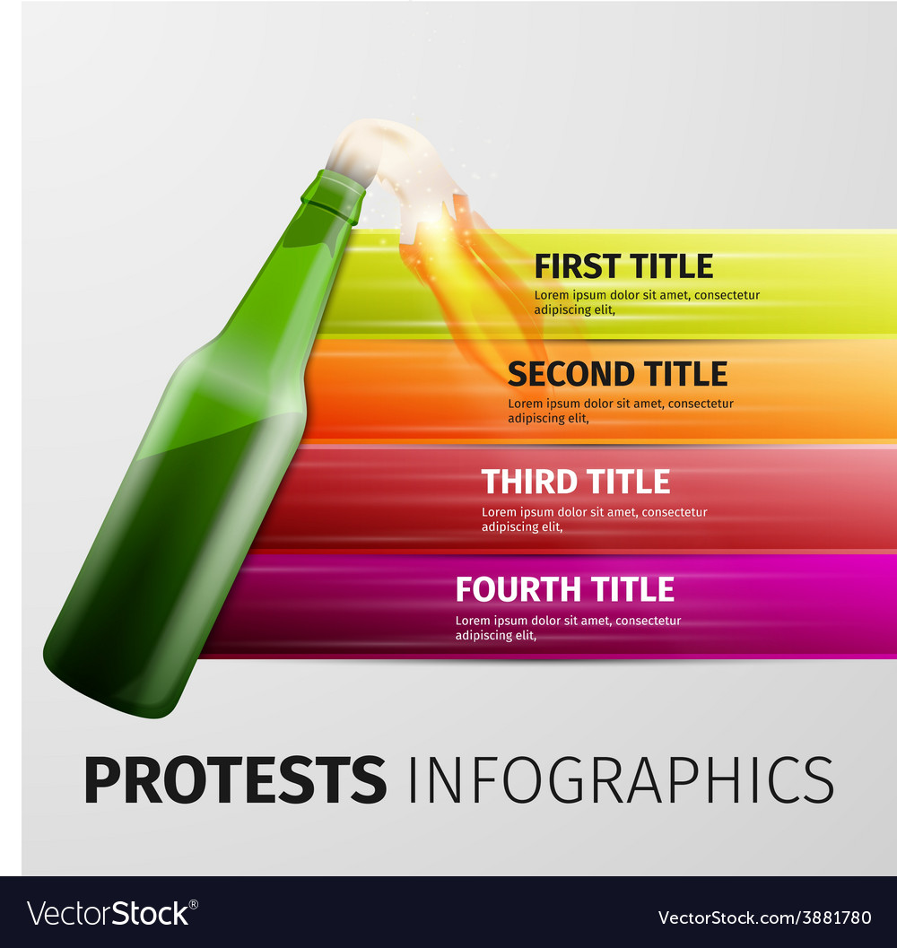Protests infographics vector | Price: 1 Credit (USD $1)
