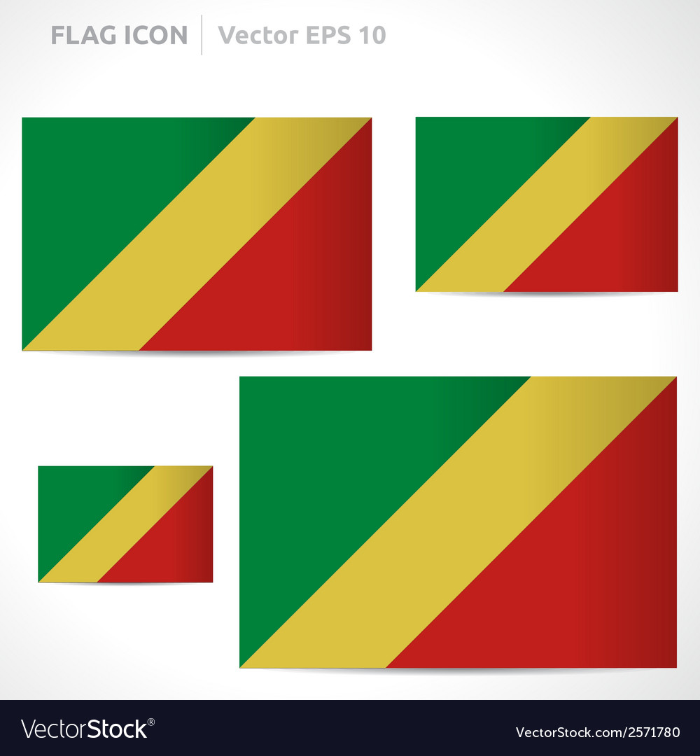 Republic of the congo flag template vector | Price: 1 Credit (USD $1)
