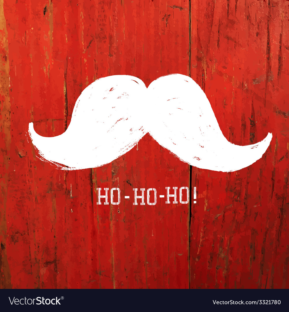 Santa moustache on red concept vector | Price: 1 Credit (USD $1)
