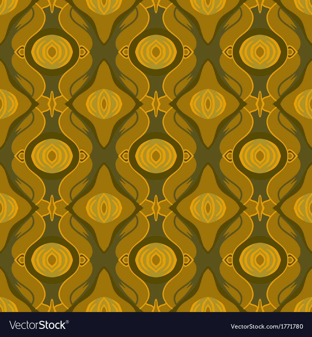 Seamless arabic pattern in shades of old gold vector | Price: 1 Credit (USD $1)