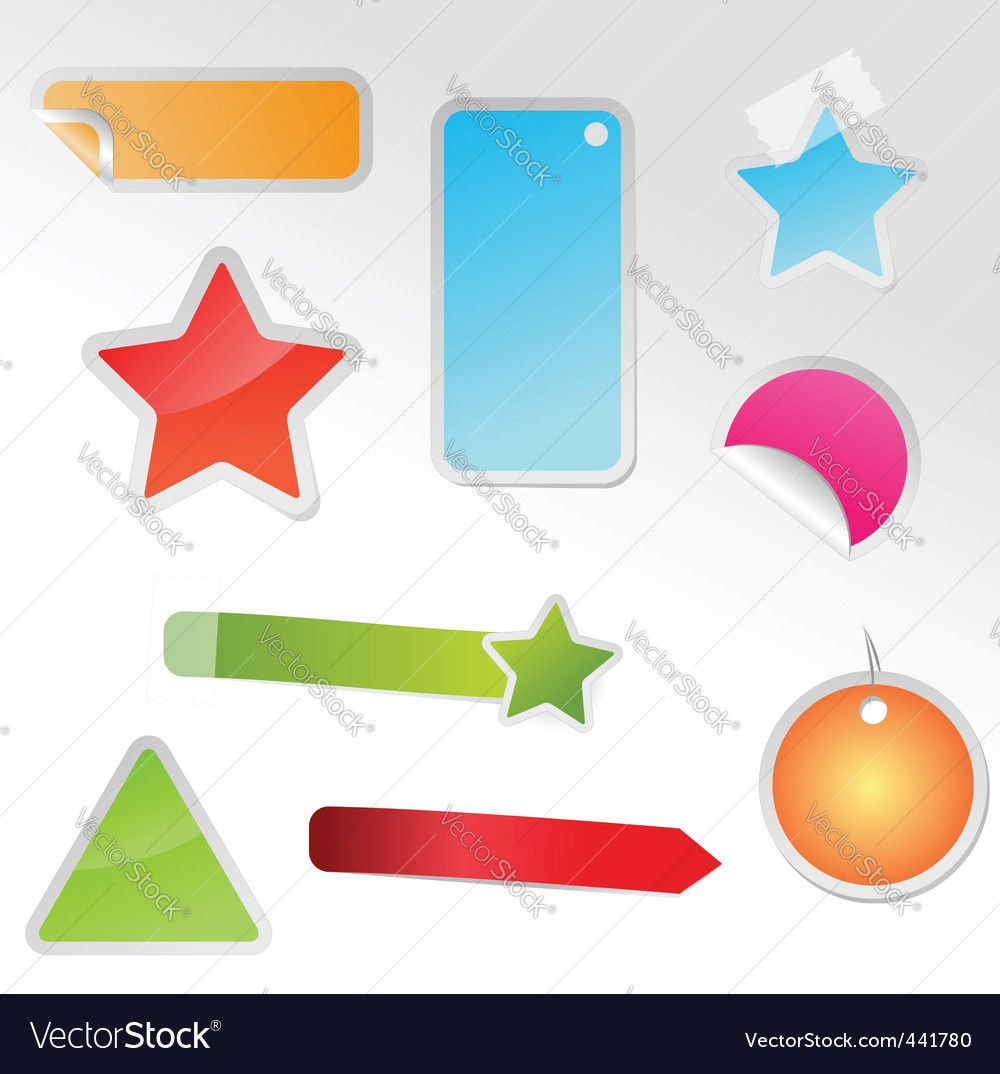 Set of multicolored tags vector | Price: 1 Credit (USD $1)