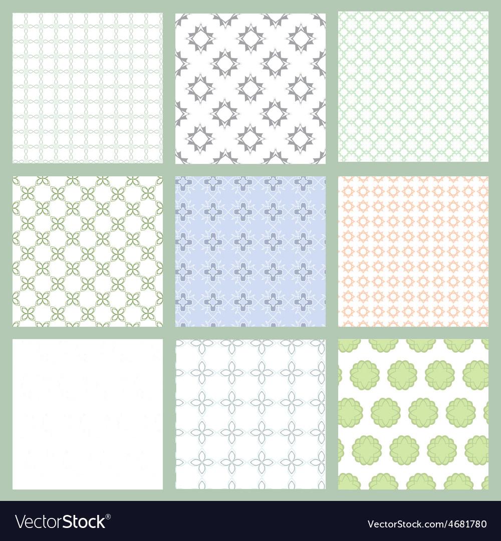 Set of nine seamless patern vector | Price: 1 Credit (USD $1)