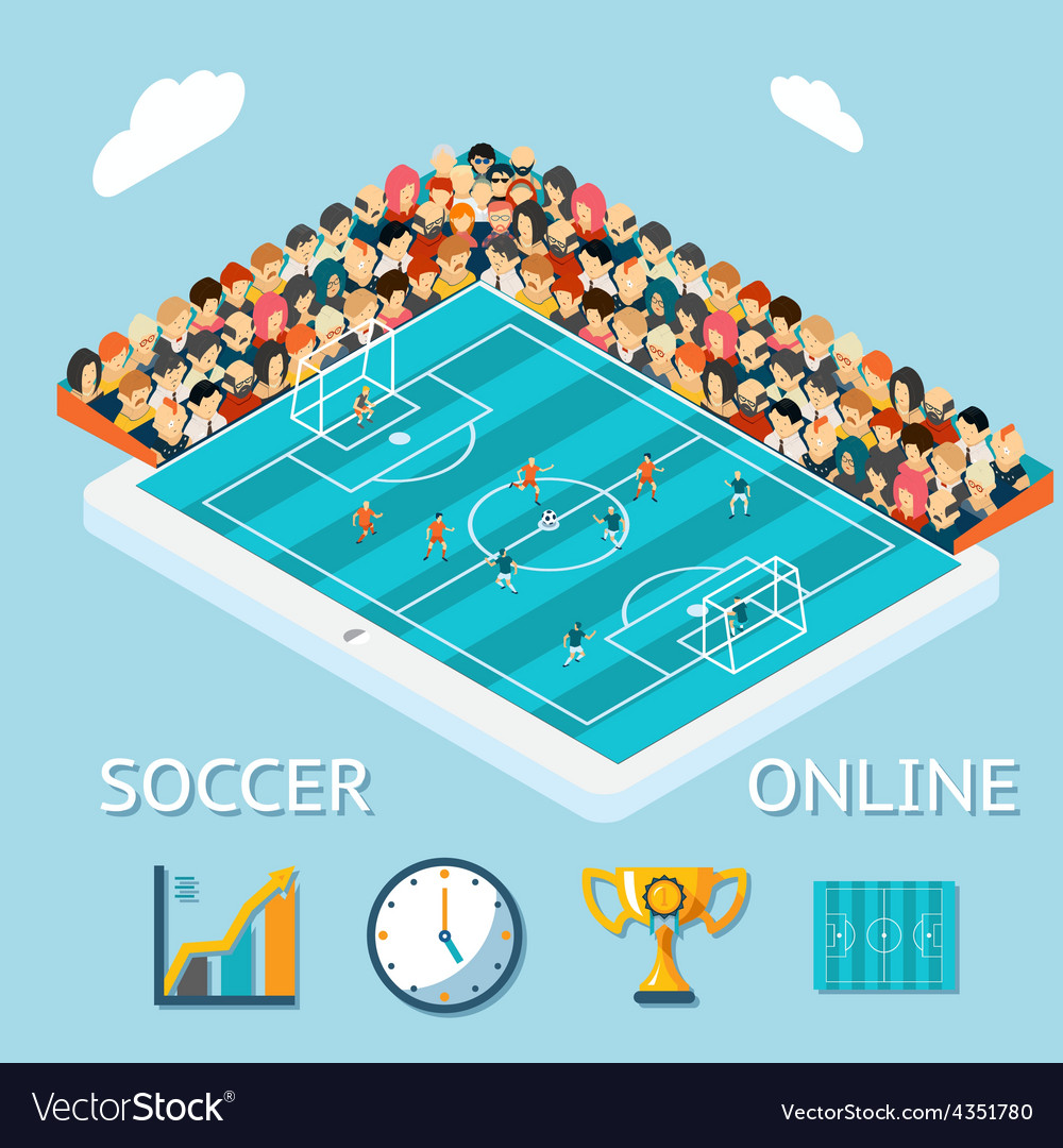 Soccer online vector | Price: 1 Credit (USD $1)