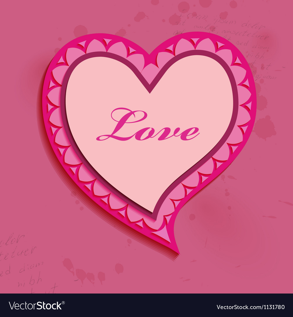 Valentine day heart bubble vector | Price: 1 Credit (USD $1)