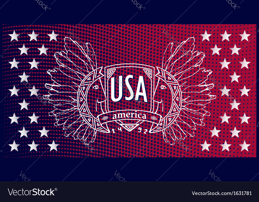 Abstract background usa patriotic design vector | Price: 1 Credit (USD $1)