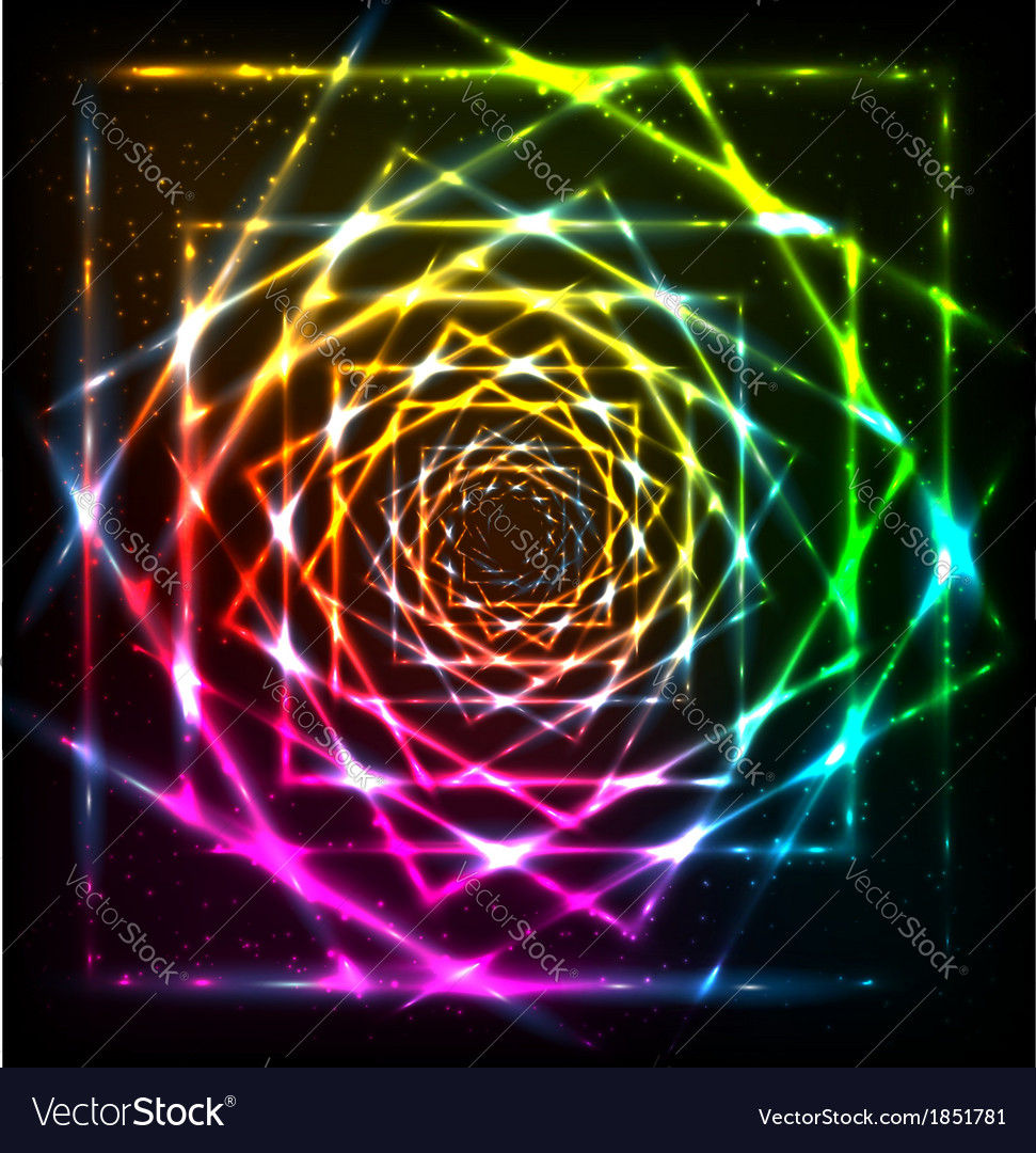Abstract neon spiral background vector | Price: 1 Credit (USD $1)