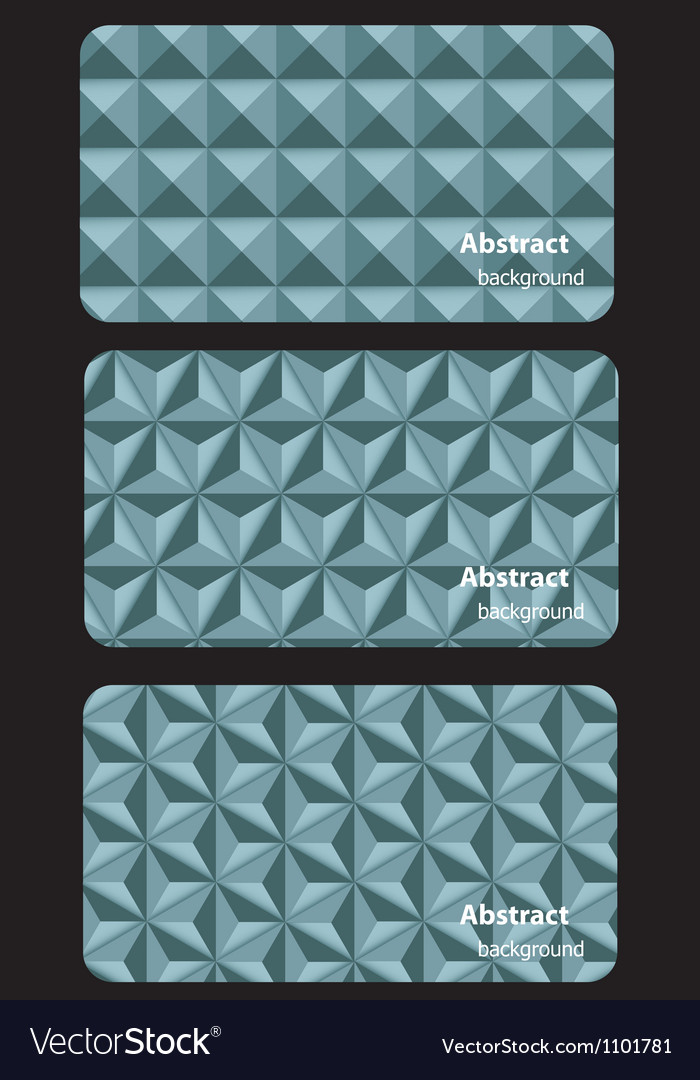 Business card templates with mosaic abstract vector | Price: 1 Credit (USD $1)