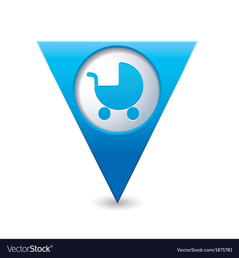 Carriage icon on map pointer blue vector | Price: 1 Credit (USD $1)