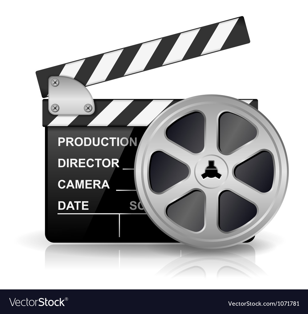 Clapper board vector | Price: 3 Credit (USD $3)