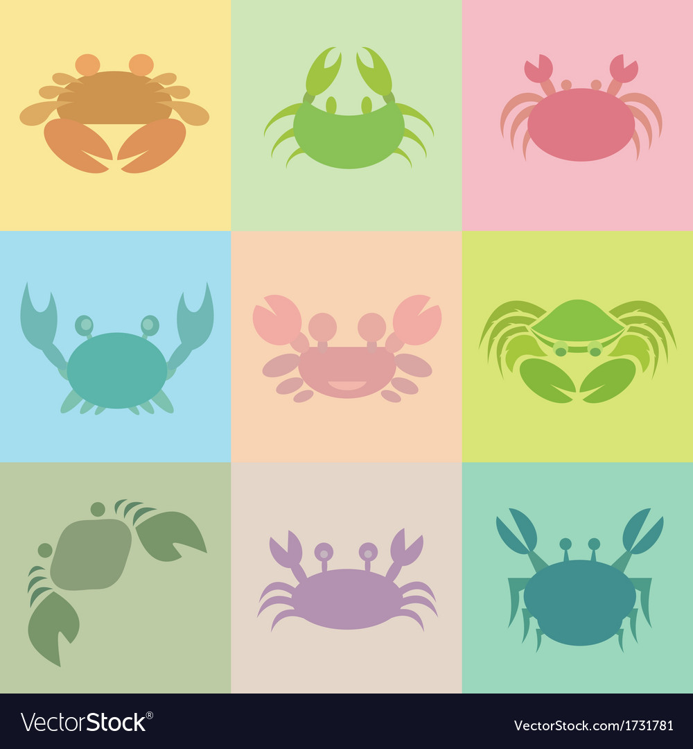 Crab groups vector | Price: 1 Credit (USD $1)