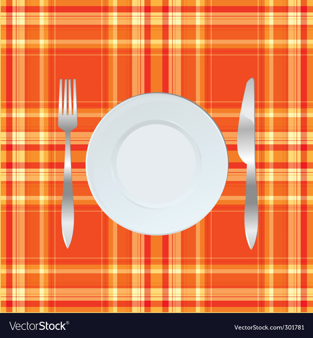 Dinner table vector | Price: 1 Credit (USD $1)