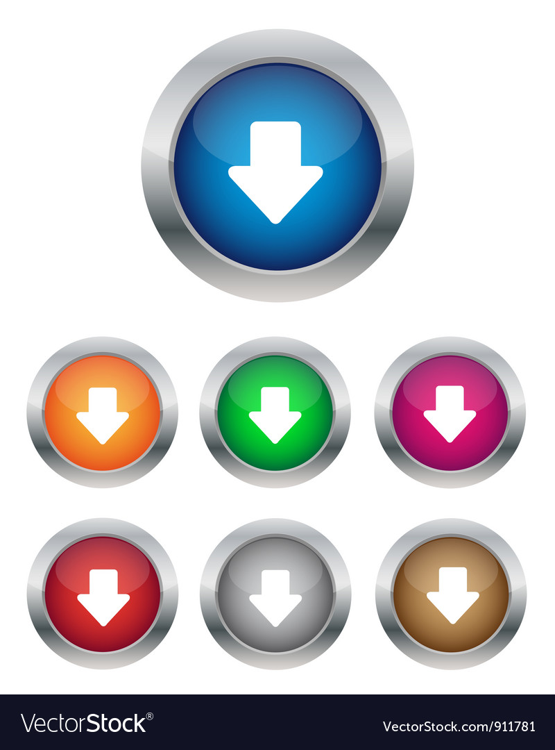Down arrow buttons vector | Price: 1 Credit (USD $1)