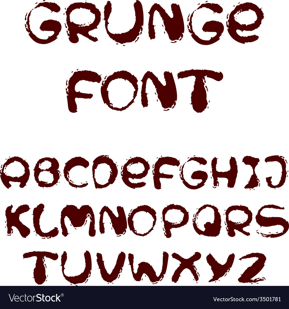 English alphabet in grunge style vector   Price: 1 Credit (USD $1)