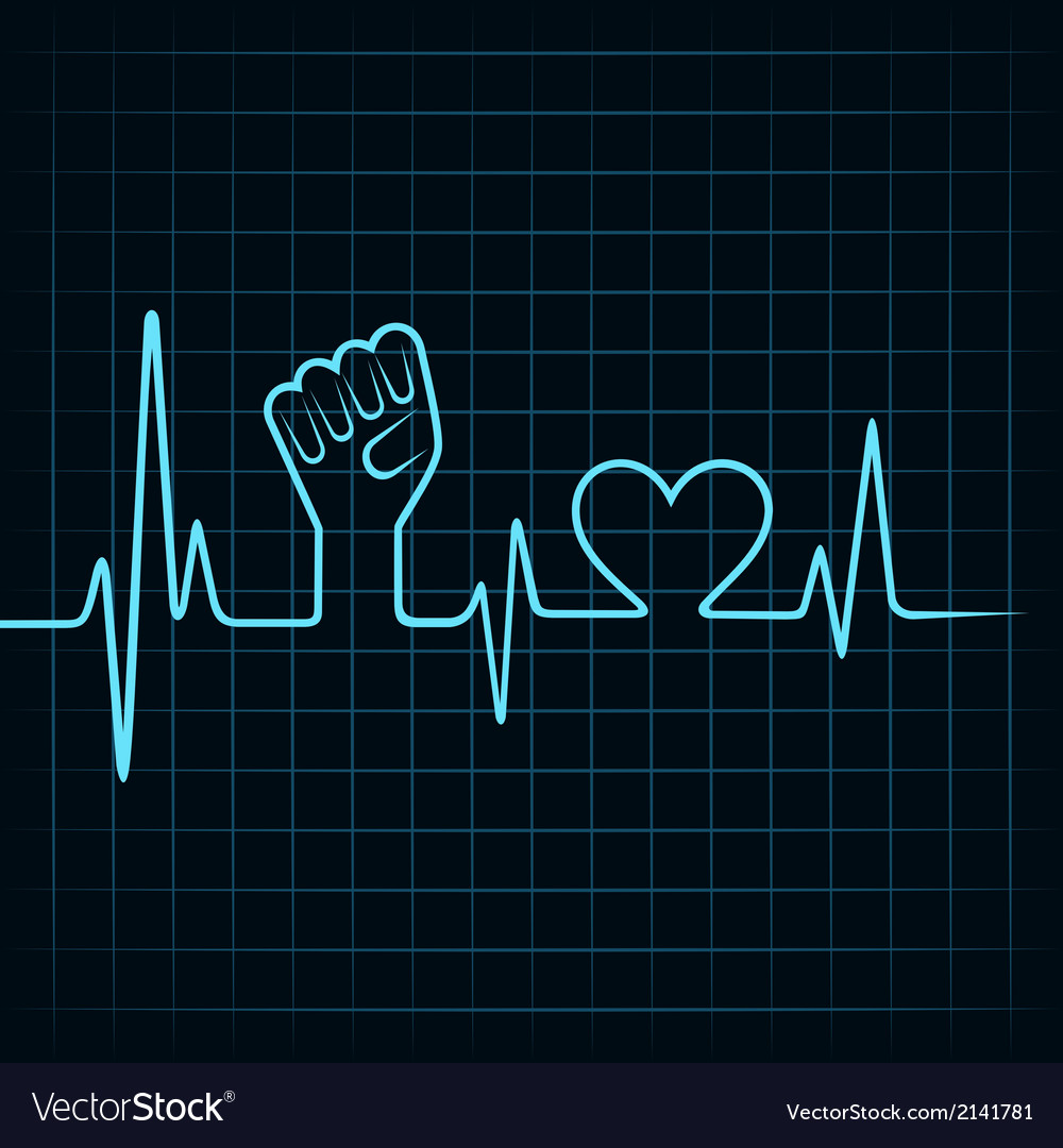 Heartbeat make unity hand and heart stock vector | Price: 1 Credit (USD $1)