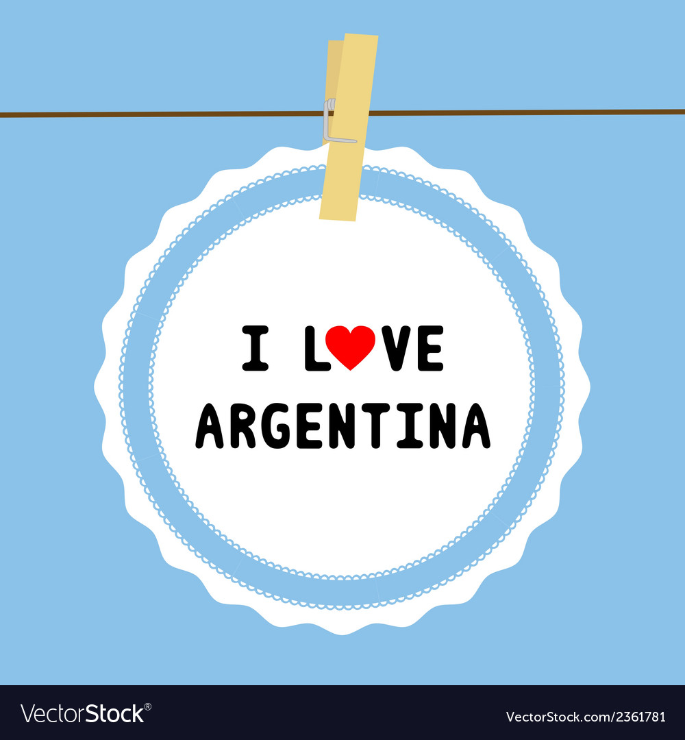 I love argentina4 vector | Price: 1 Credit (USD $1)