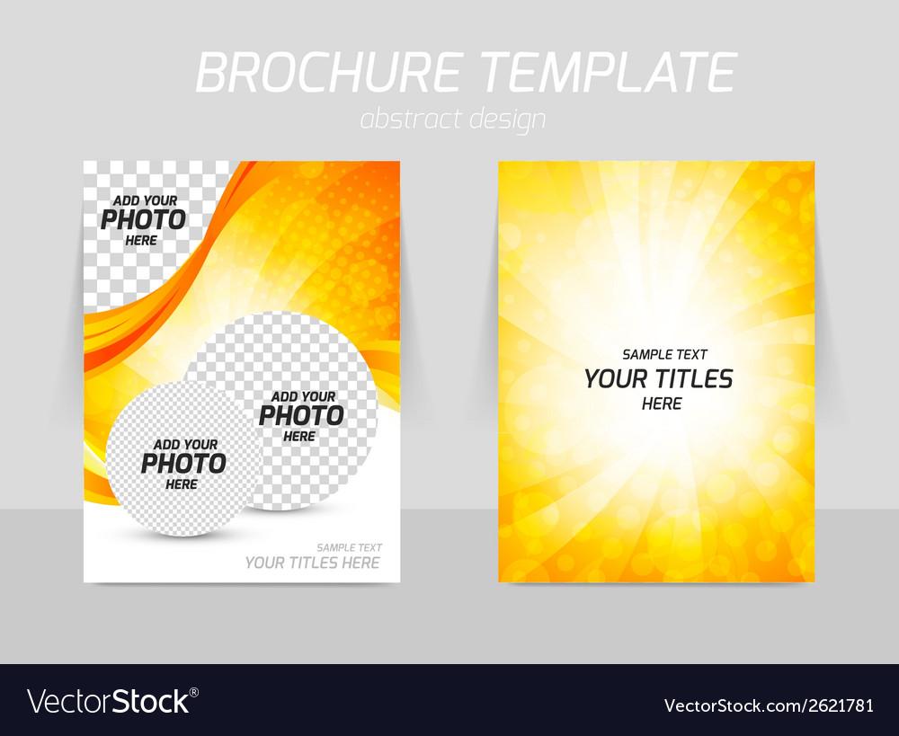 Orange flyer vector | Price: 1 Credit (USD $1)