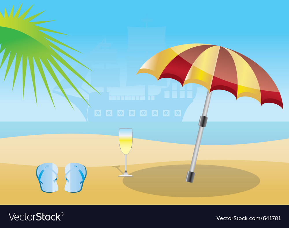 Summer and sea background vector | Price: 1 Credit (USD $1)