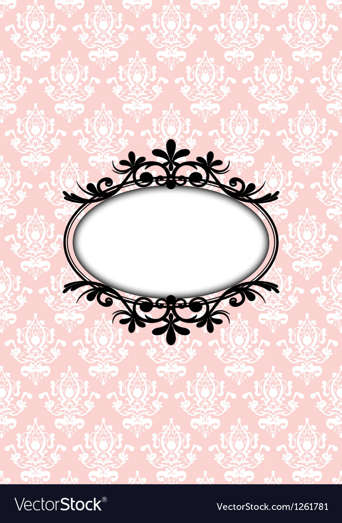 Vintage pink frame vector | Price: 1 Credit (USD $1)