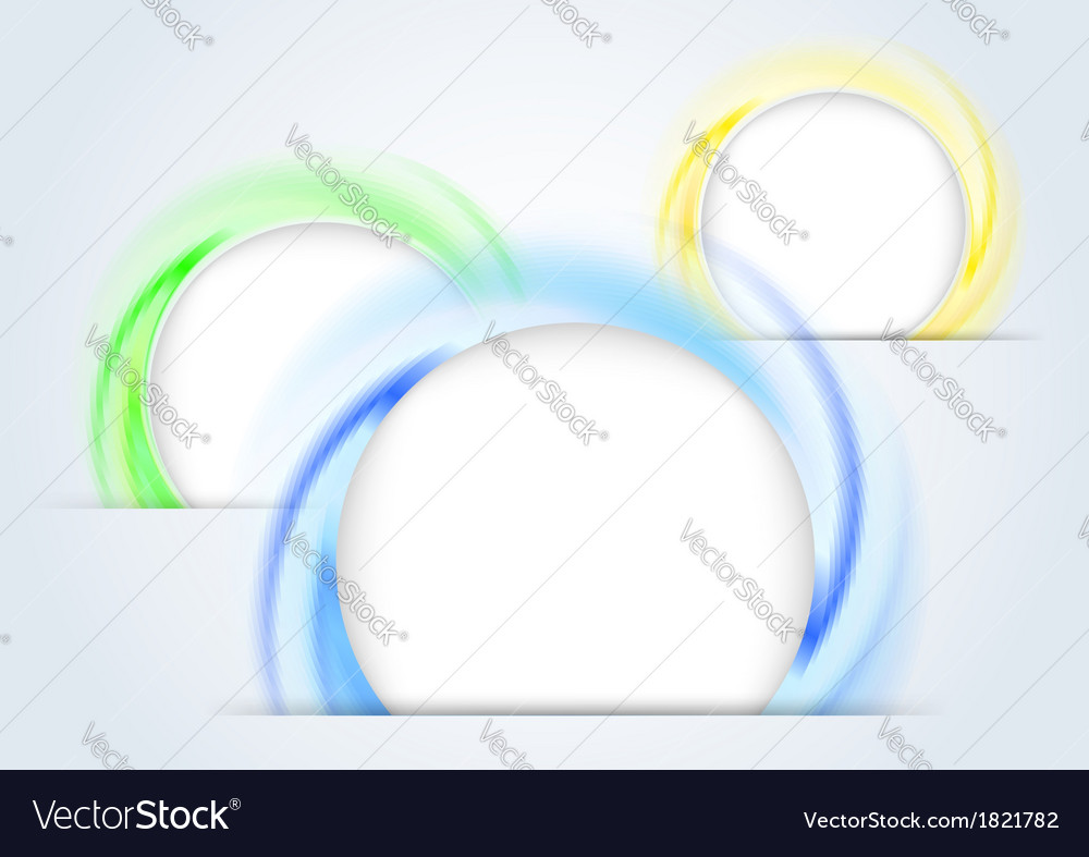 Abstract colorful rings forming a 3d background vector | Price: 1 Credit (USD $1)
