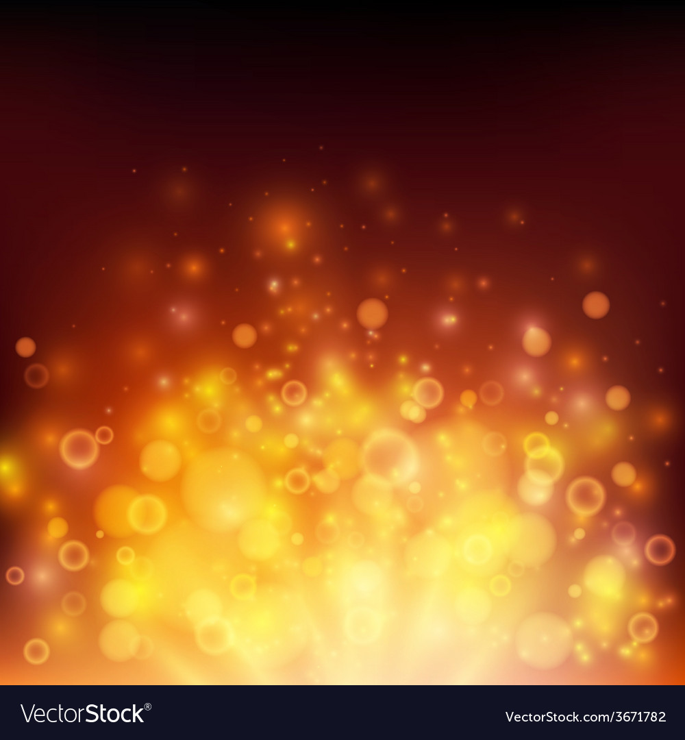 Abstract fire bokeh background vector | Price: 1 Credit (USD $1)