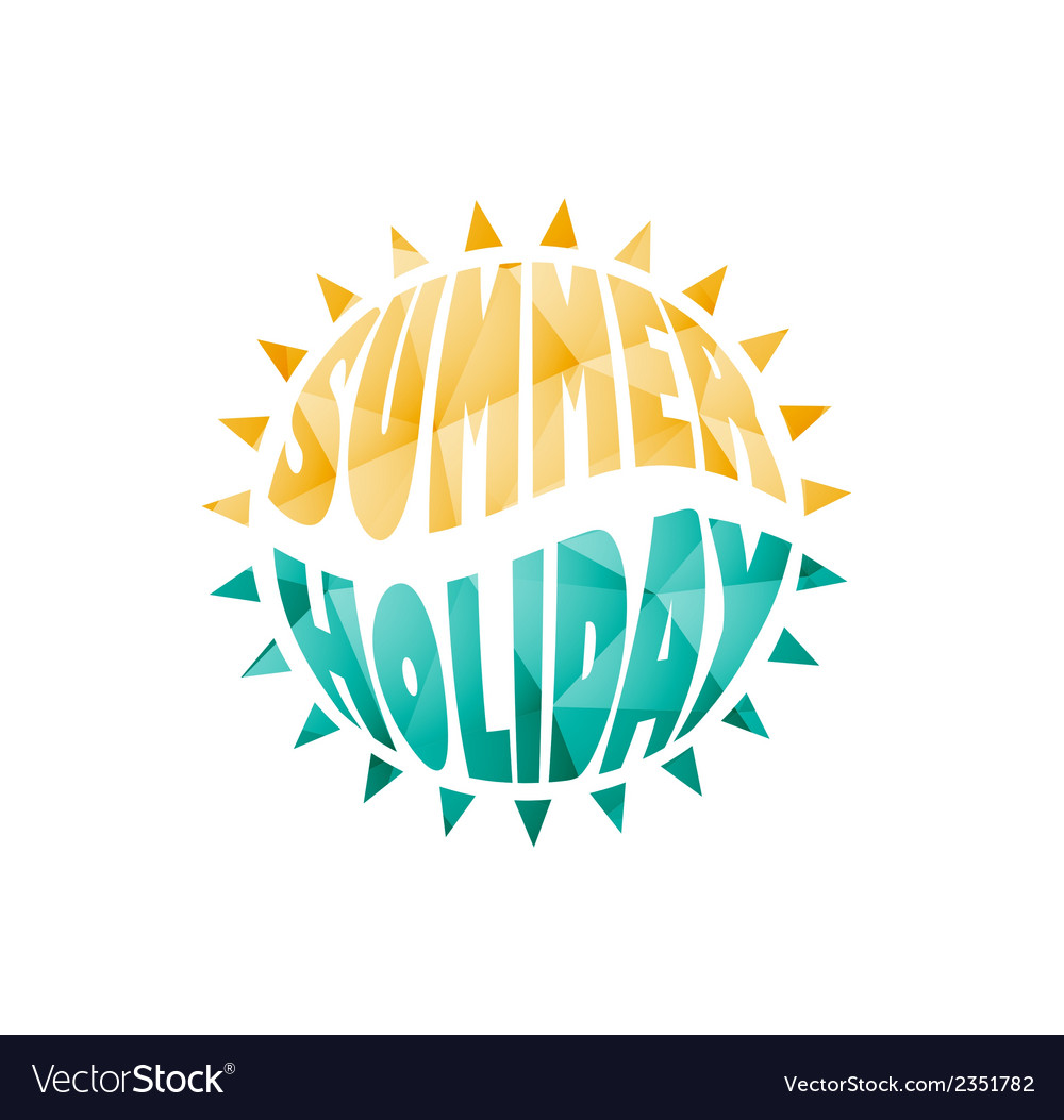 Colored summer holiday text vector | Price: 1 Credit (USD $1)