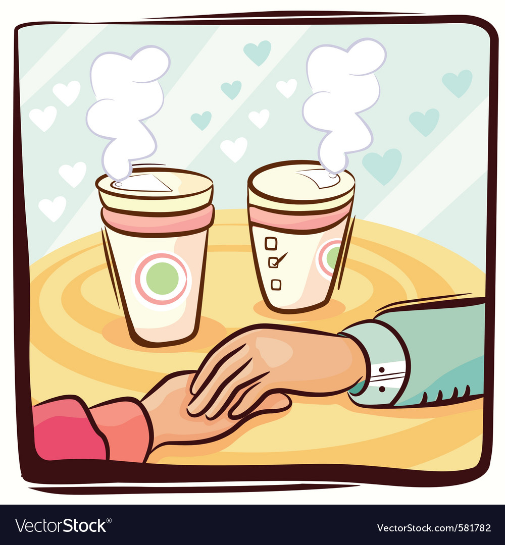 Couple hand and coffee vector | Price: 1 Credit (USD $1)