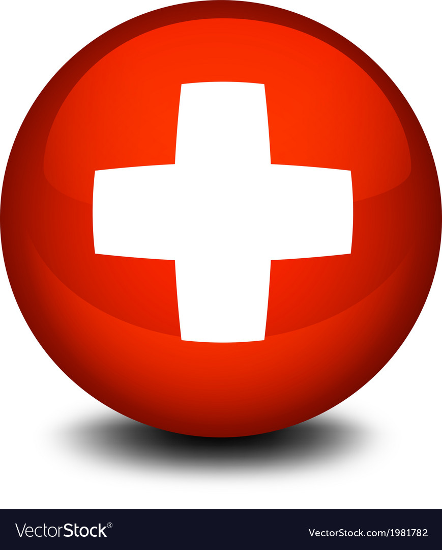 The flag of switzerland in a ball vector | Price: 1 Credit (USD $1)