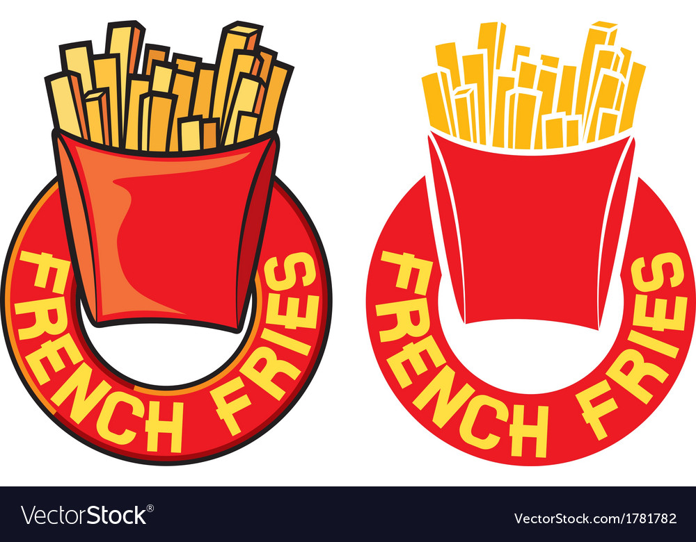 French fries label vector | Price: 1 Credit (USD $1)