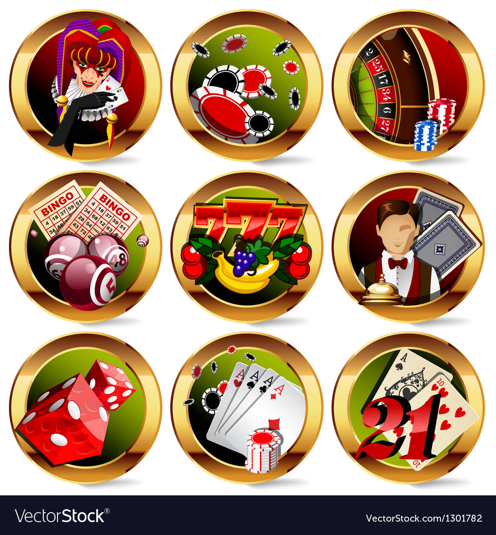 Gambling icons vector | Price: 3 Credit (USD $3)