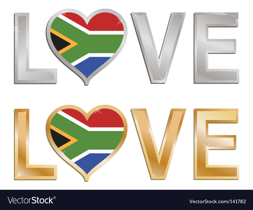 Love south africa sign vector | Price: 1 Credit (USD $1)