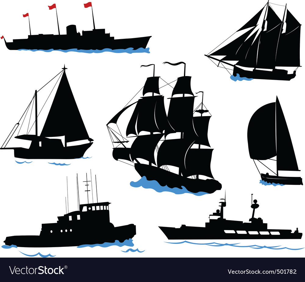 Offshore ships  set vector | Price: 1 Credit (USD $1)