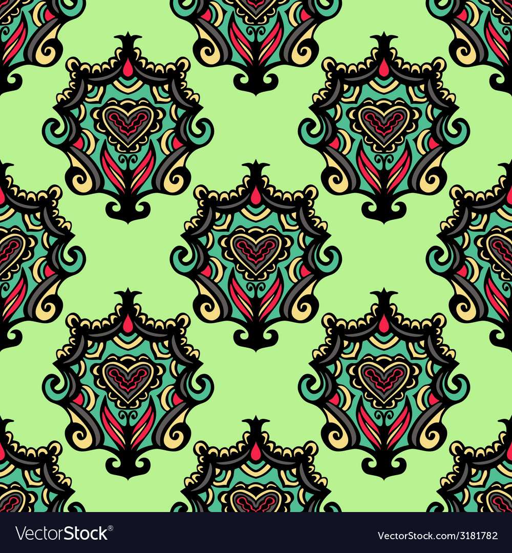 Oriental damask vintage seamless abstract vector | Price: 1 Credit (USD $1)