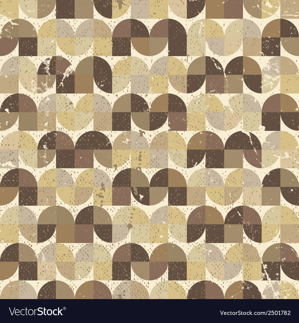 Ornamental worn textile geometric seamless pattern vector | Price: 1 Credit (USD $1)