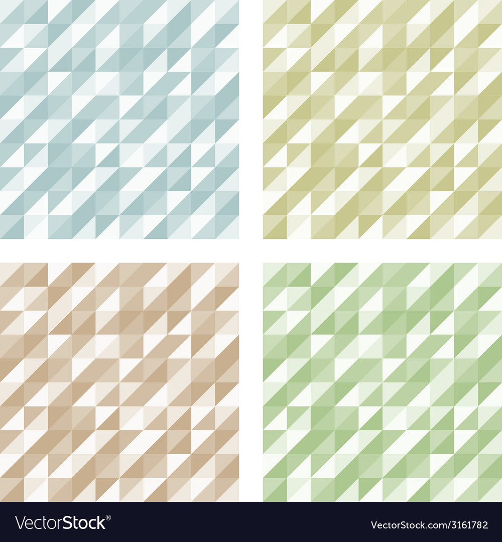 Set of geometric retro patterns vector | Price: 1 Credit (USD $1)