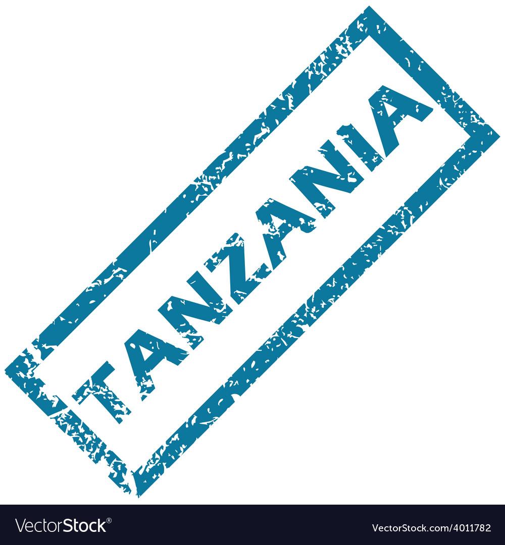 Tanzania rubber stamp vector | Price: 1 Credit (USD $1)