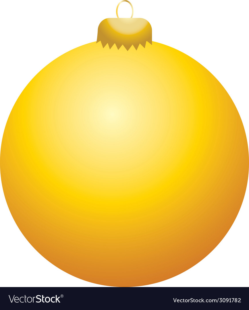 Yellow ball ornament vector