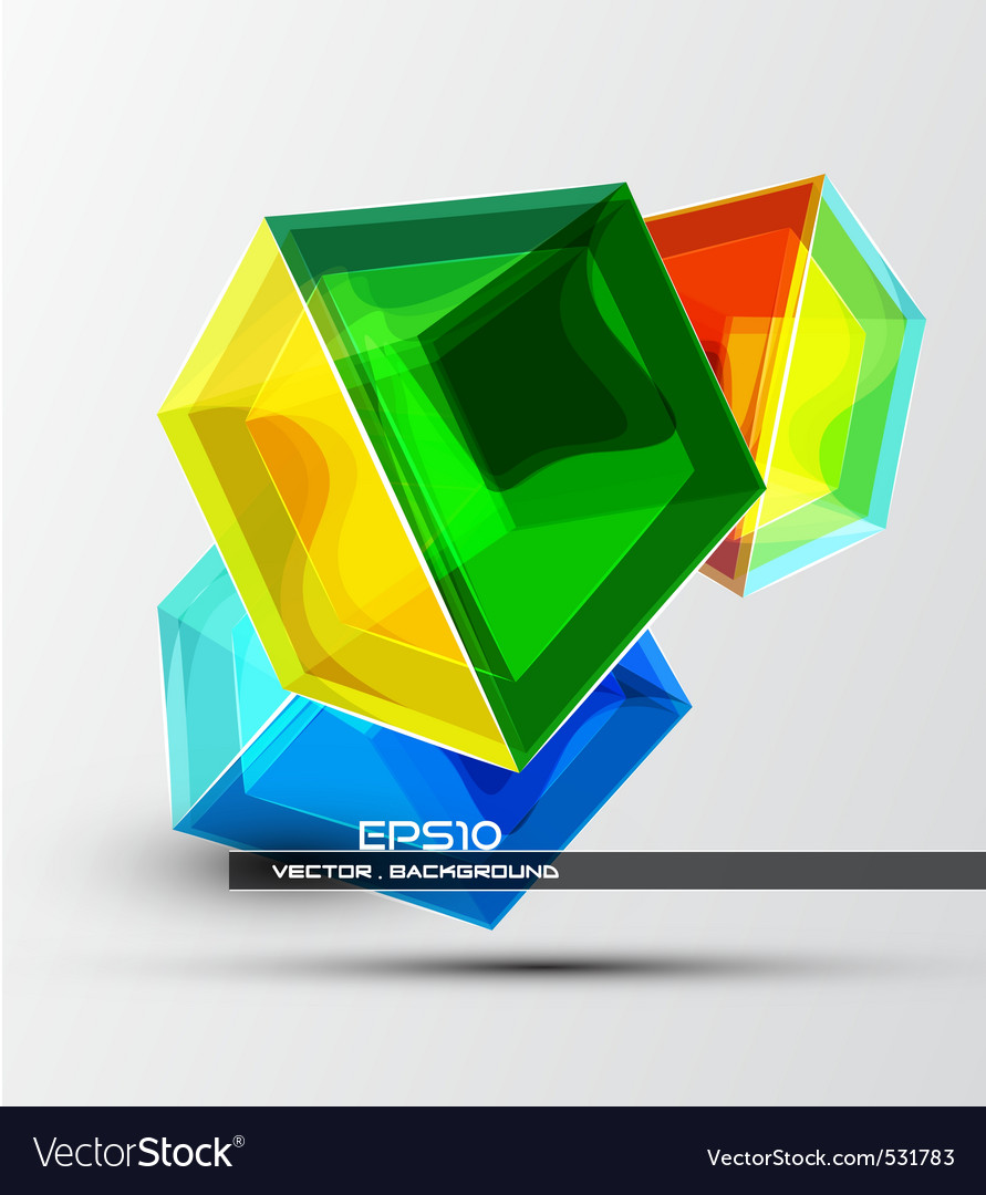 3d cubes vector | Price: 1 Credit (USD $1)