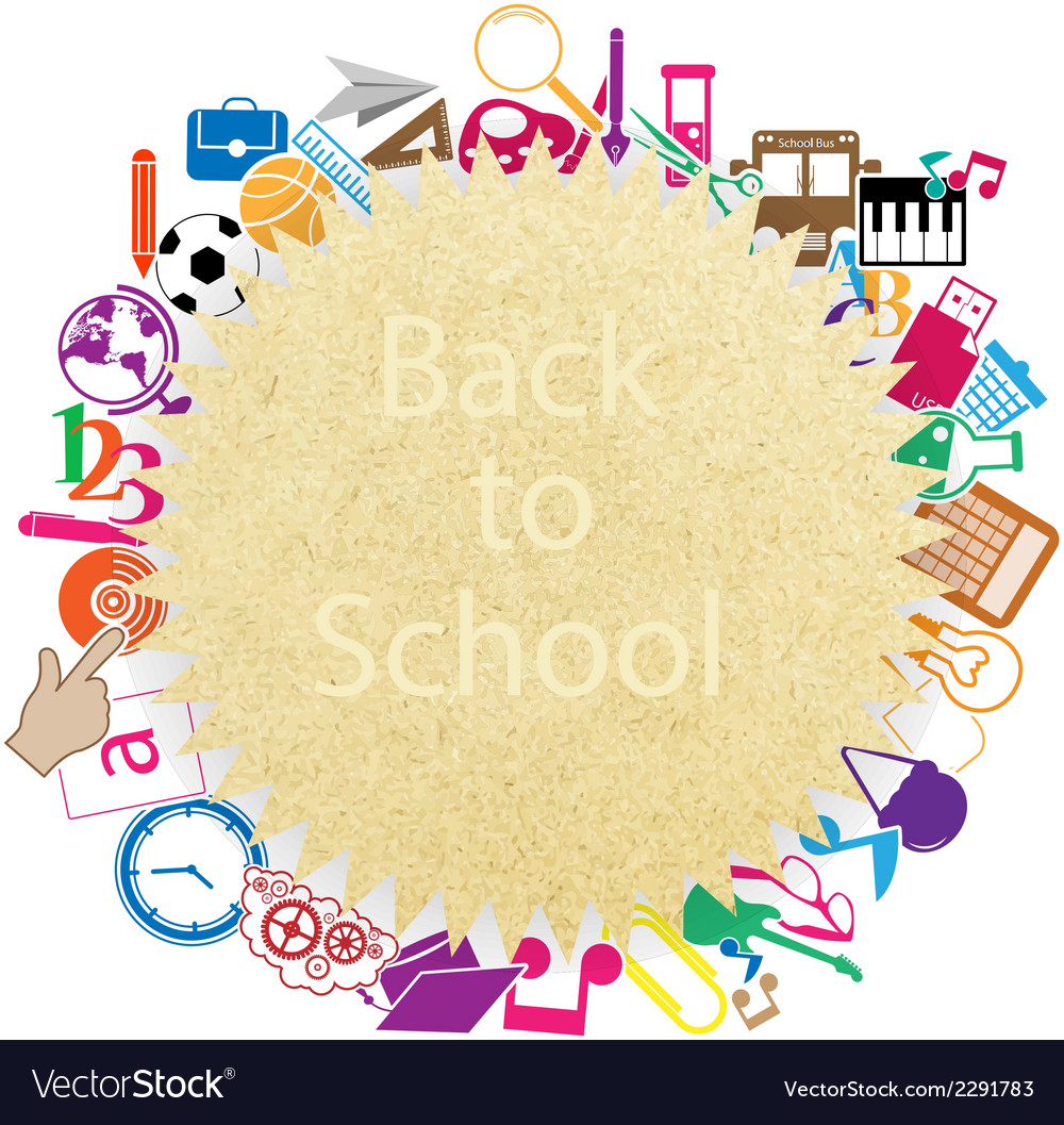 Back to school on paper seamless children backgrou vector | Price: 1 Credit (USD $1)