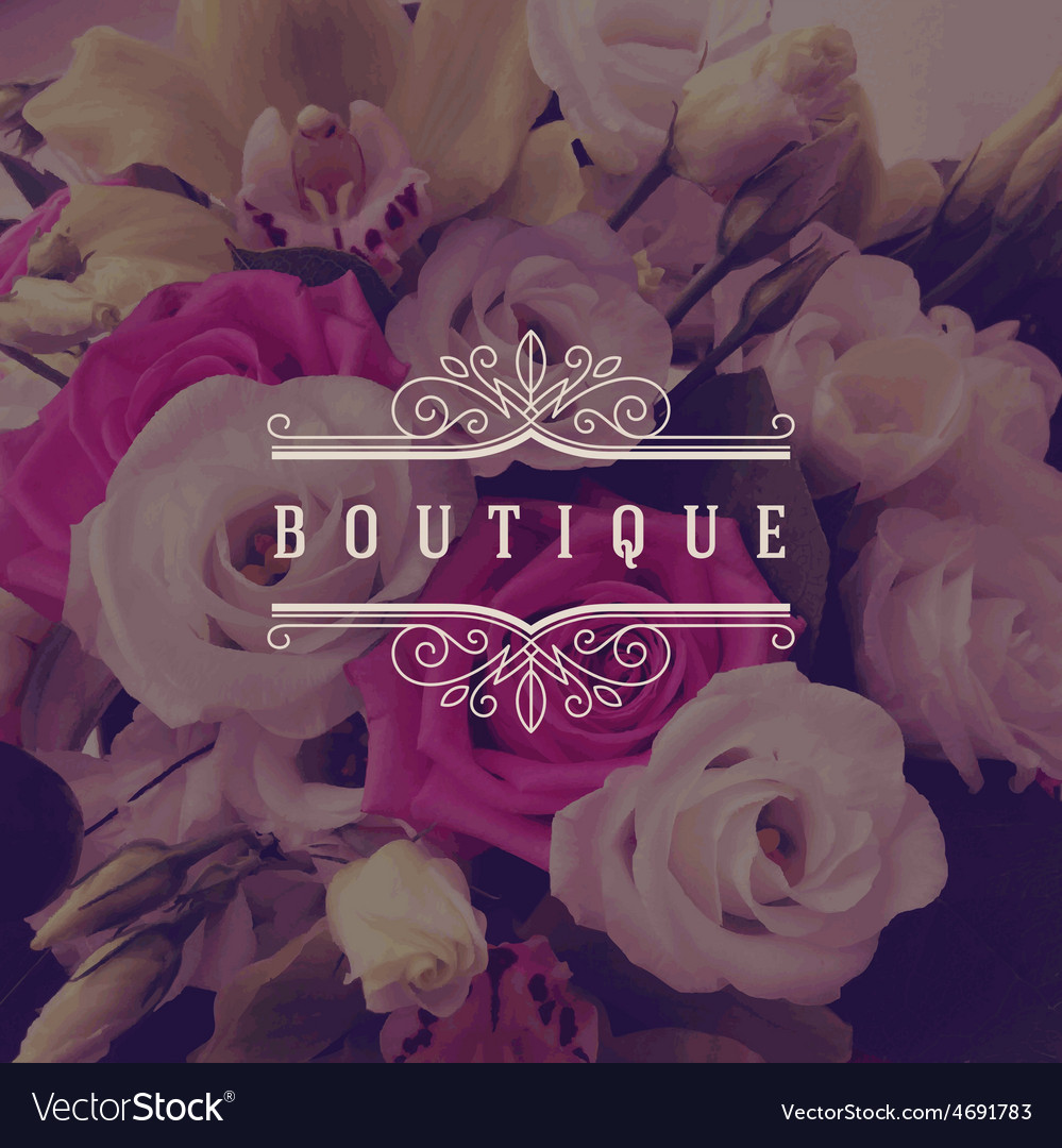 Boutique ornamental logo vector | Price: 1 Credit (USD $1)