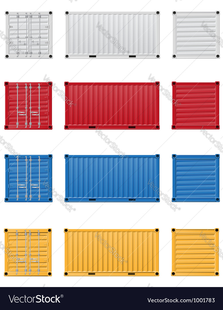 Cargo container 03 vector | Price: 1 Credit (USD $1)