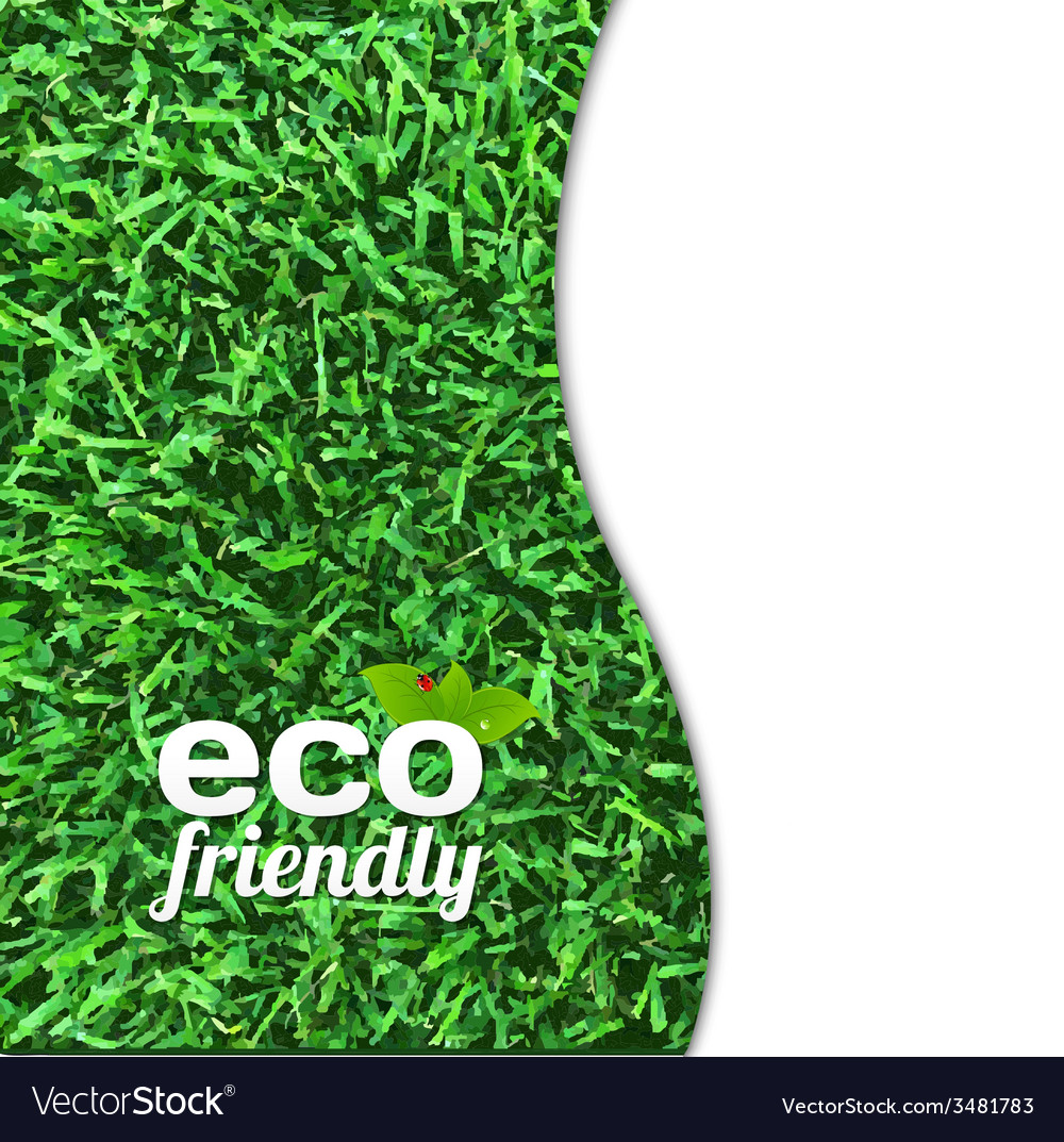 Eco friendly card vector | Price: 1 Credit (USD $1)