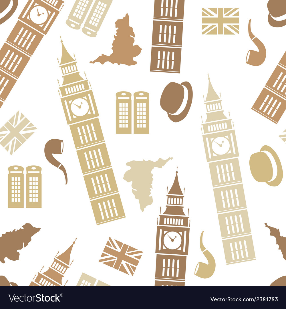 England seamless pattern vector | Price: 1 Credit (USD $1)
