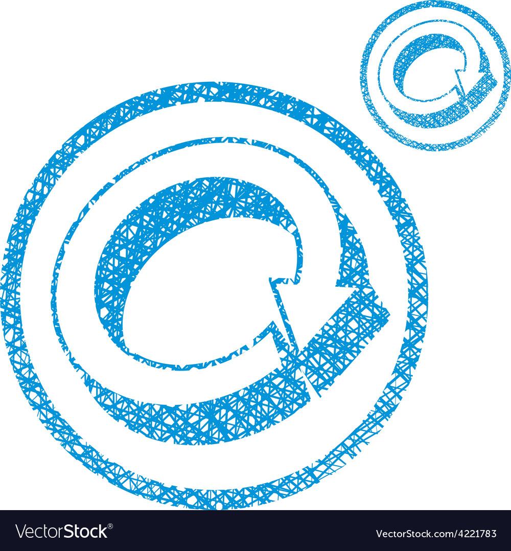 Loop arrows conceptual symbol simple single color vector | Price: 1 Credit (USD $1)