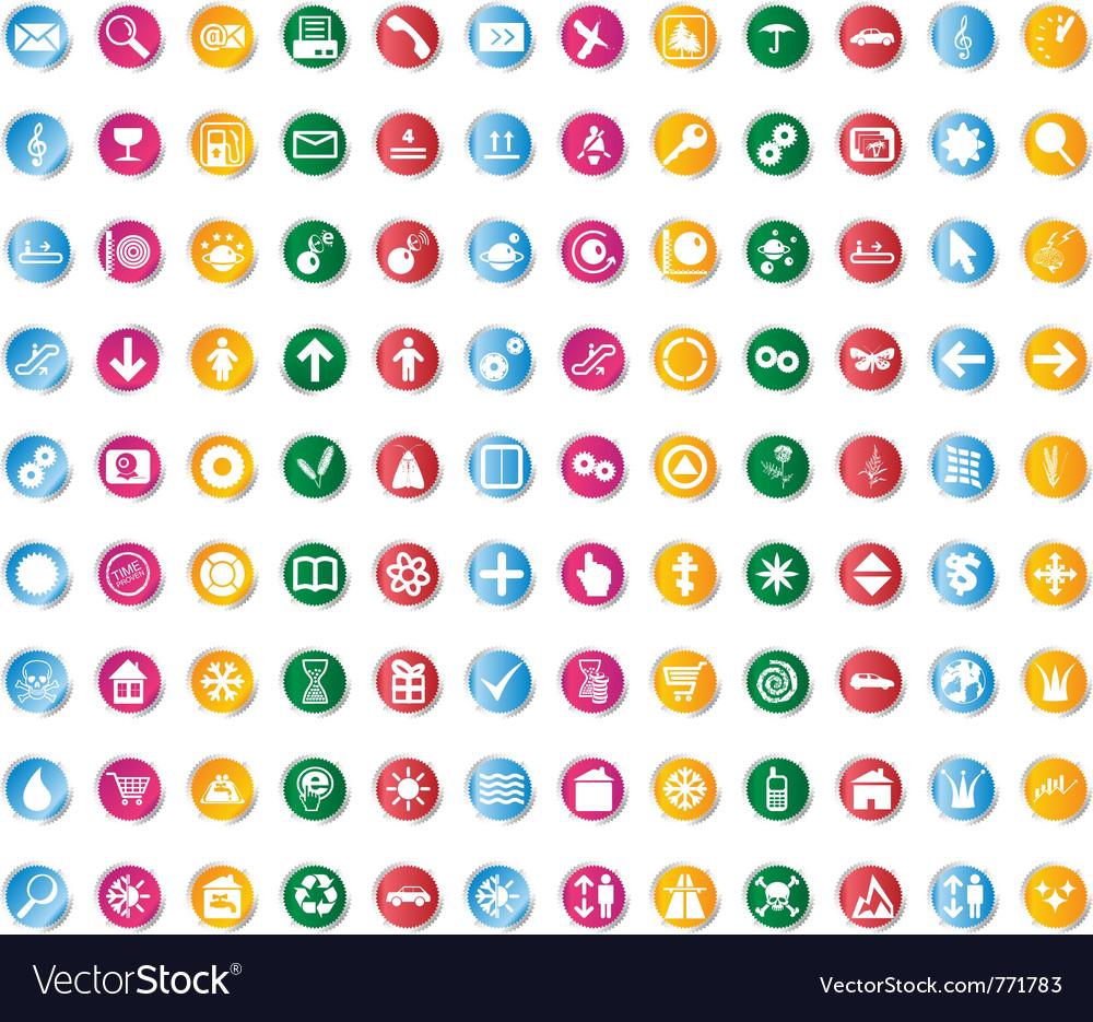 Multi-subject icon set vector | Price: 1 Credit (USD $1)
