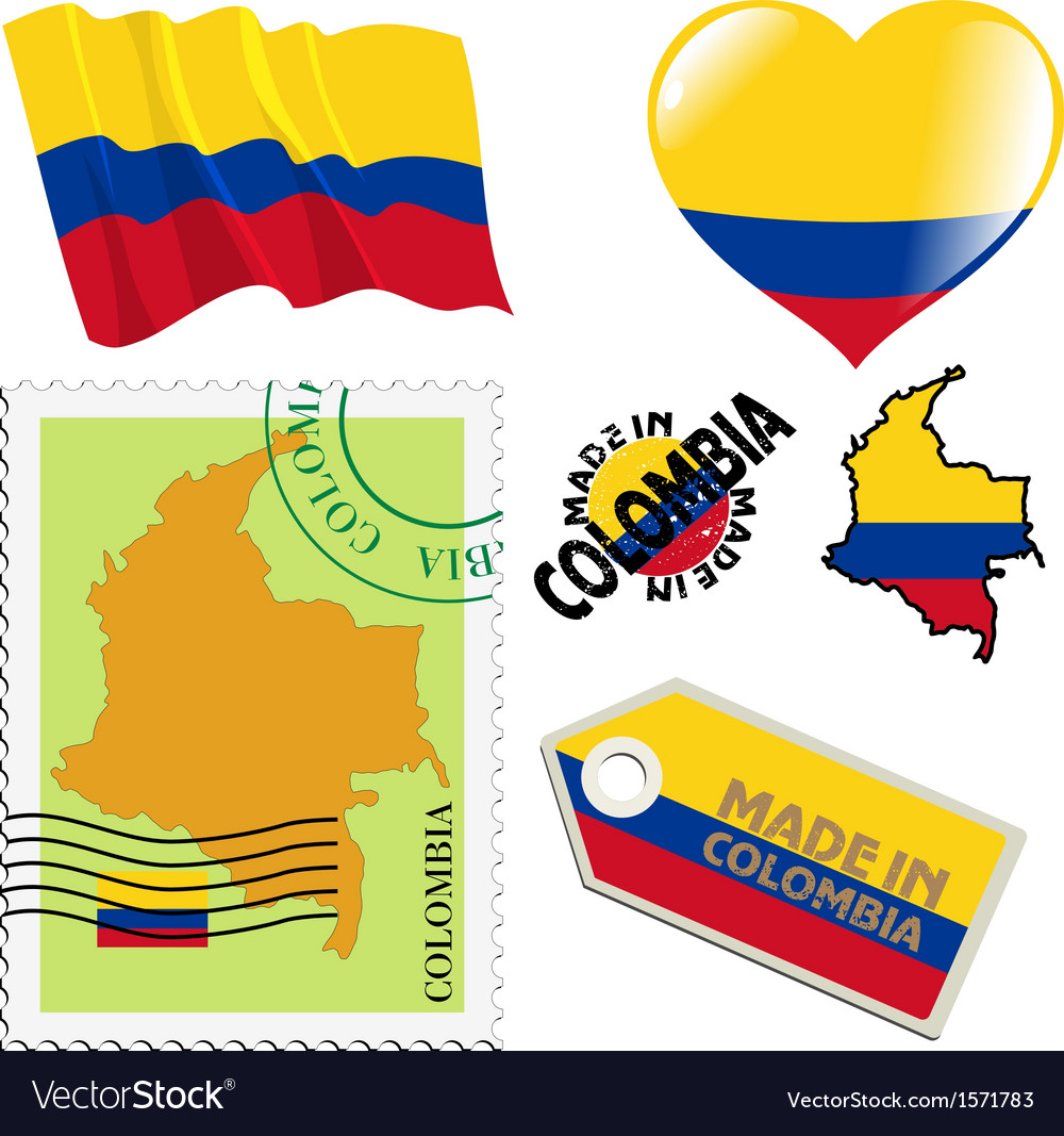 National colours of colombia vector | Price: 1 Credit (USD $1)