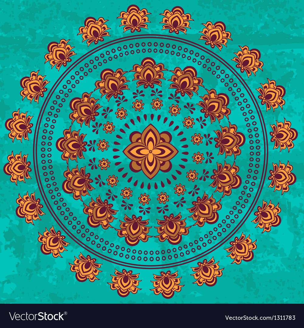 Oriental mandala vector | Price: 1 Credit (USD $1)